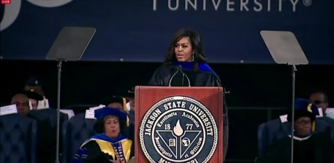 Michelle Obama Uses University Commencement Speech to Demagogue Mississippi