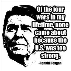 Peace Through Strength Reagan