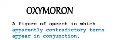 Oxymoron or just plain Moron?