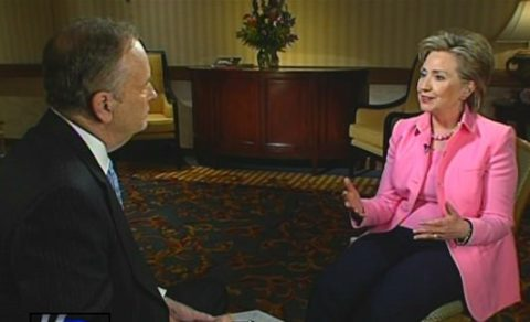 Oops! Hillary Tells O'Reilly Why She's not Qualified to Run for President!
