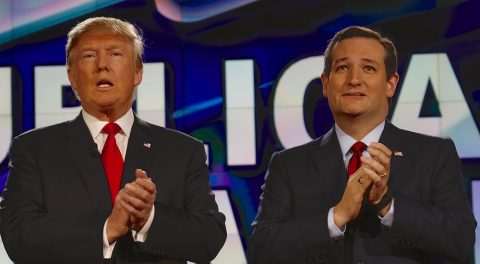 Ted and Donald Kiss, Make-up, and Hold Hands