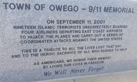 Muslims Demand Removal of 9/11 Plaque