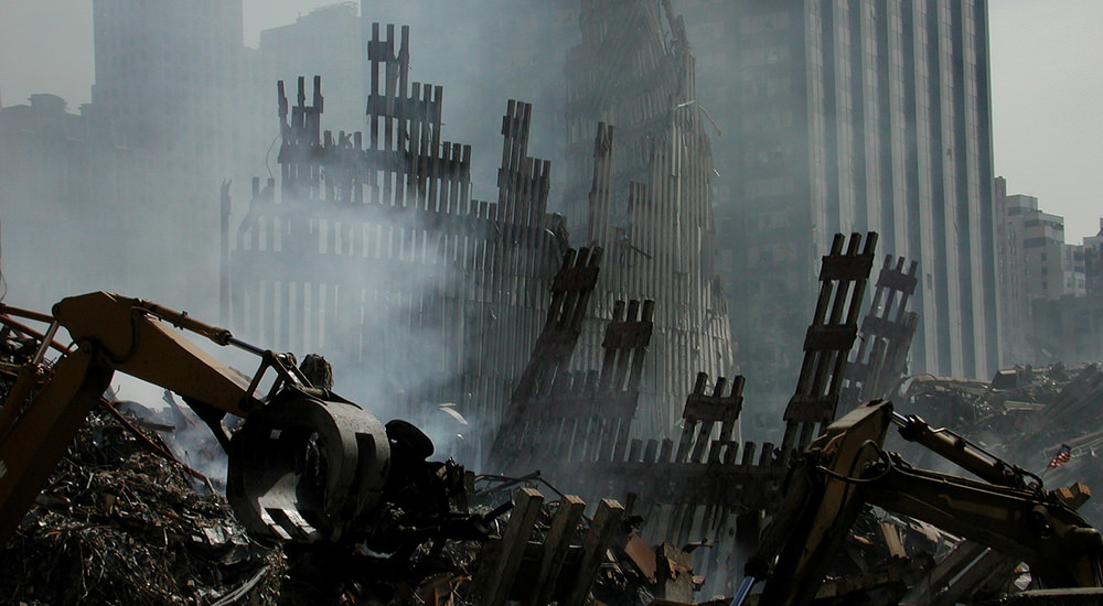 9/11 - Ruins of WTC on 9/18