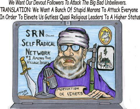"(Political Cartoon) The ""Self-Radical"" Terrorist Network"