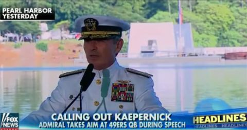 Admiral Mocks NFL Quarterback while Praising Heroes of WW II!