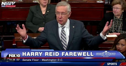American Politics just Got Better! Watch Harry Reid Leave the Building!