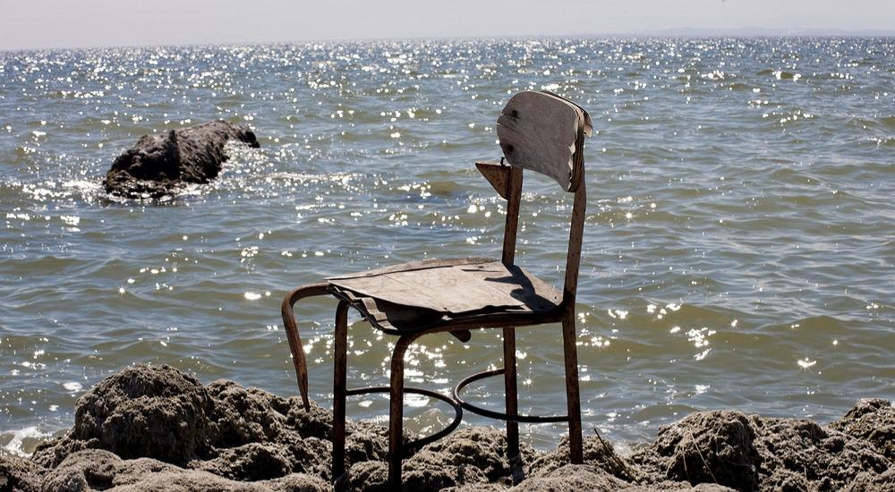Chair by the Salton Sea