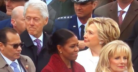 Hilarious Video Shows Exact Moment that Hillary Clinton Catches Bill Clinton Ogling Ivanka Trump!
