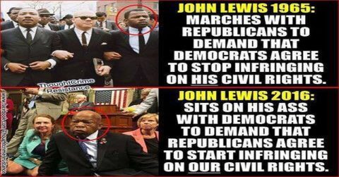 The Tired Hypocrisy of John Lewis and Those Who Claim Him as a Hero