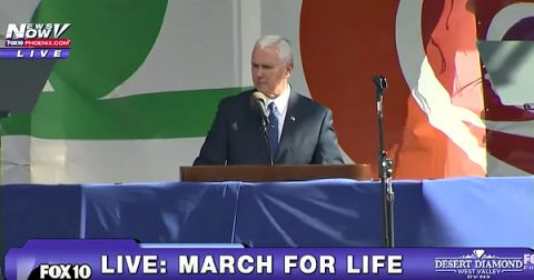 Mike Pence Makes History in Pro-Life Movement
