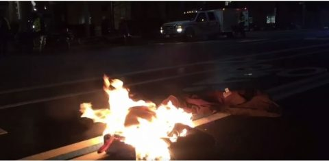"Liberal Protestor Sets Himself on Fire in ""Fear"" of Trump's Election!"