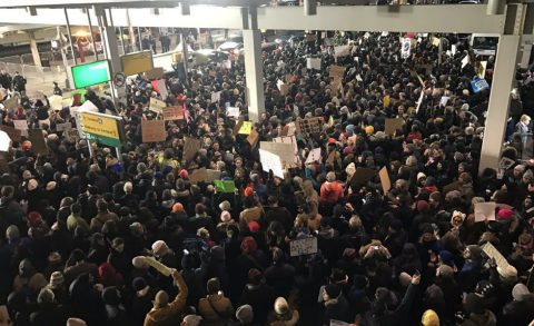 LAX Immigration Protest: Spontaneous, Public Outcry…or Was It?