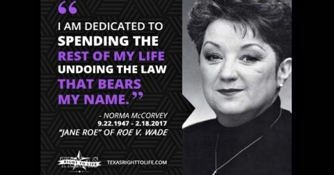 Norma McCorvey (or Jane Roe) of Roe V. Wade, Dead at 69