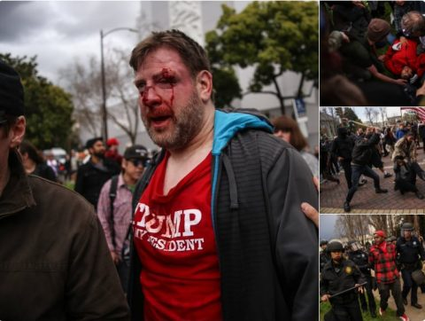 Radical Liberal Terrorist Bloodies Liberty-Loving Americans at Trump Rally