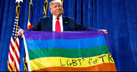 Trump Enthusiastically Endorses Homosexual Agenda! WHAT??