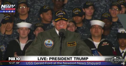 President Trump's Message to Sailors, Soldiers and Civilians!
