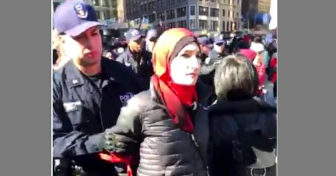 Anti-Semitic Muslim Women's March Leader Arrested in NYC!