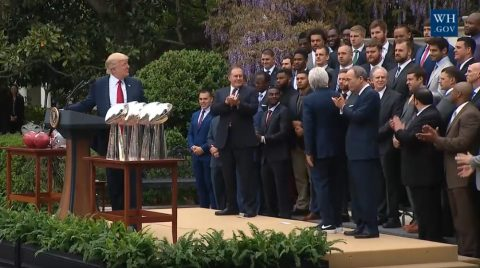 President Trump Welcomes the New England Patriots to the White House