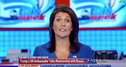 "US Ambassador Nikki Haley puts Russia ""On Notice"""