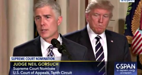Trump tells Senate to Confirm Judge Gorsuch