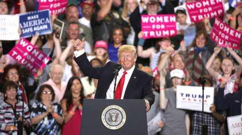President Hosts Raucous Rally in Florida