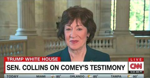 RINO Senator Susan Collins Defends President Trump from CNN