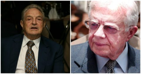 George Soros and Jimmy Carter!
