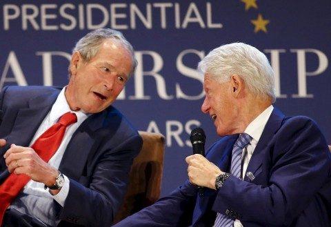 George W. Bush and Bill J. Clinton Walk Into a Bar