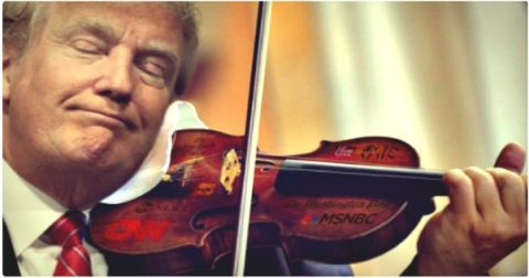 Trump is Playing the Media Like a Fiddle
