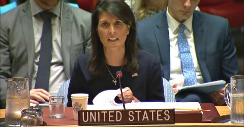 """Ambassador Nikki Haley Slams the UN for """"Obsessive"""" Israel Hatred, and Refusal to Condemn Terrorists"""