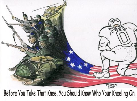 Taking a Knee on the American Flag