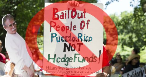 No Bail Out for Puerto Rico