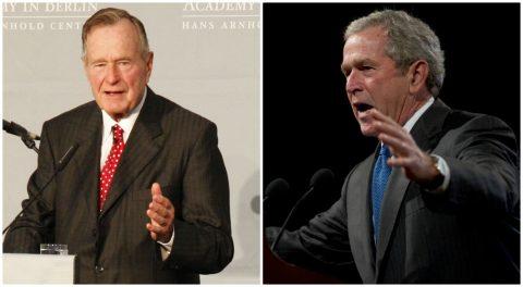 Both President Bushes Launch Attacks on President Trump