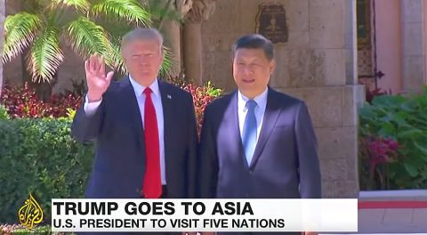 Trump Implores China to Confront North Korea and take a Stand Against Radical Islam