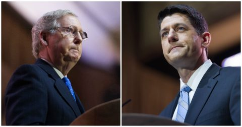Ryan and McConnell call for Roy Moore to Drop Out