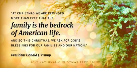 President Trump Delivers Amazing Speech at National Christmas Tree Lighting