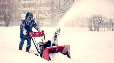 A man and his snow blower versus the rest of the world