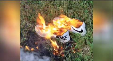 Burning Nike