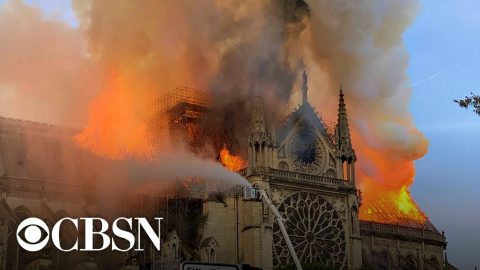 The Notre Dame Cathedral Ablaze!