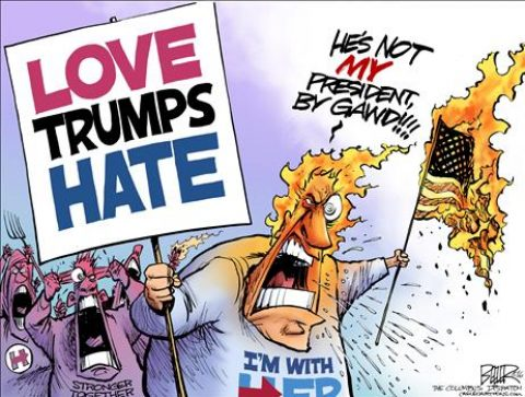 Democrats Fomenting Hate but Blame Trump